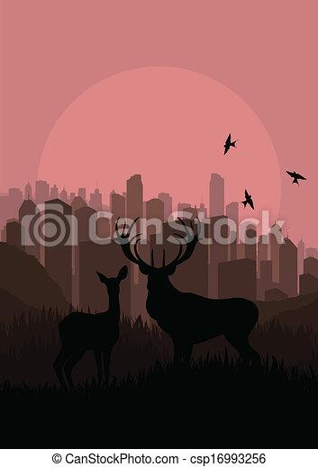 Deer vector background - csp16993256