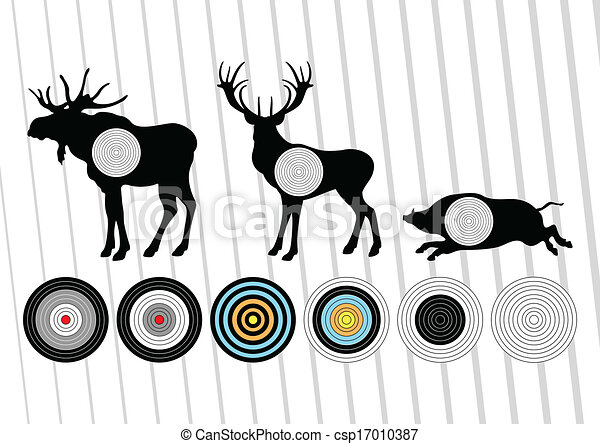 Deer vector background - csp17010387