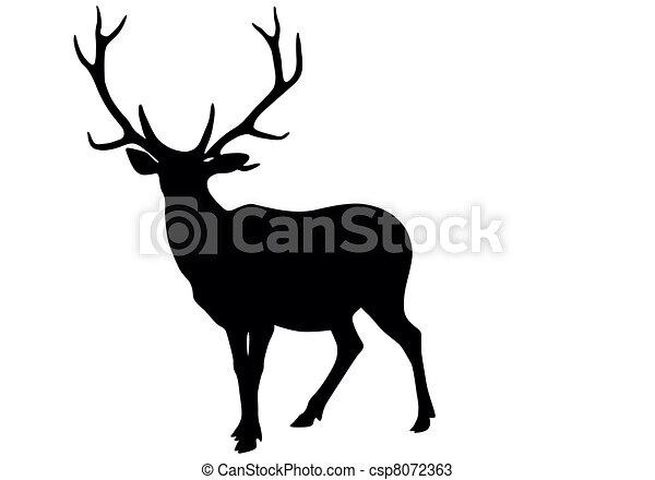 Deer vector  - csp8072363
