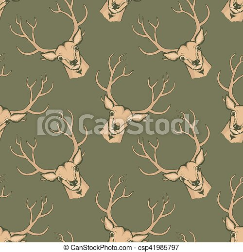 Deer vector illustration - csp41985797