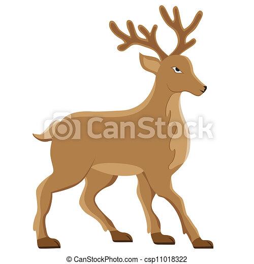 deer vector illustration - csp11018322