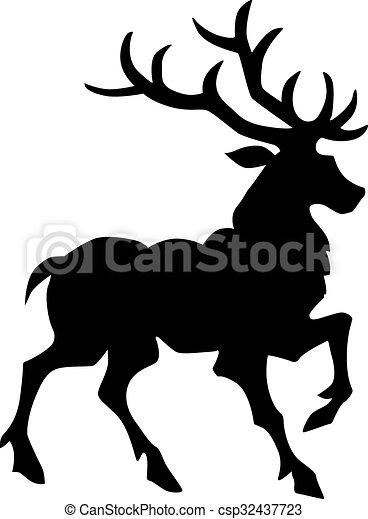 Deer vector silhouette - csp32437723