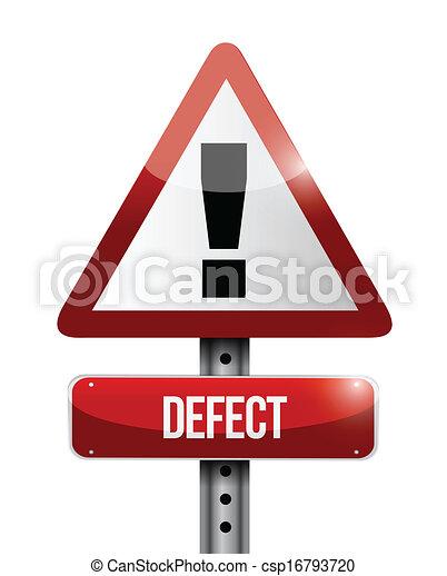 defect warning road sign illustration design - csp16793720