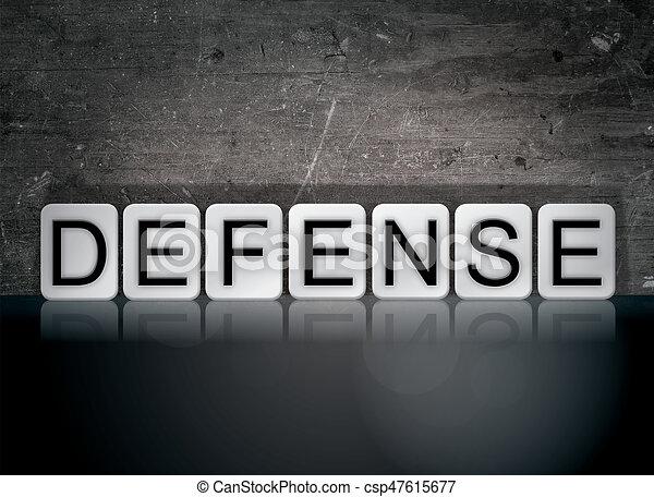 Defense Concept Tiled Word - csp47615677