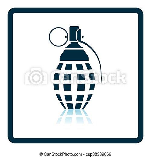 defensive grenade icon shadow reflection design vector illustration rh canstockphoto com grenade vector free download grenade vector free download