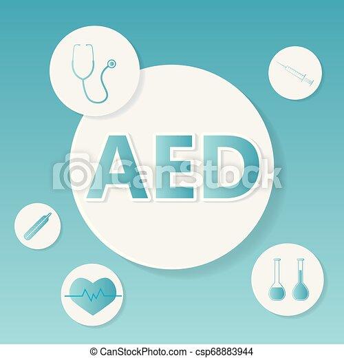 defibrillator), concept, monde médical, externe, (automated, aed - csp68883944