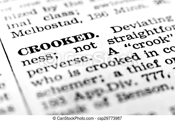 Attractive Define Definition Of Crook Crooked   Csp29773987