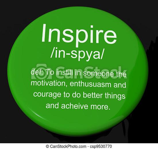 definição, motivação, inspire, botão, encorajamento, mostra, inspiração - csp9530770