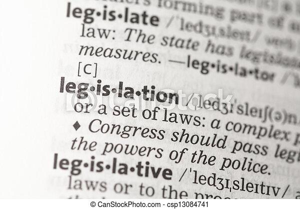 Definición de legislación - csp13084741