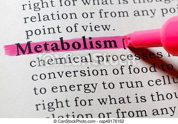 definición, metabolism - csp49176162