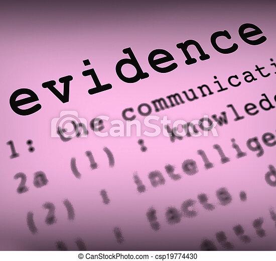 La definición de evidencia significa investigación de la escena del crimen y informe policial - csp19774430