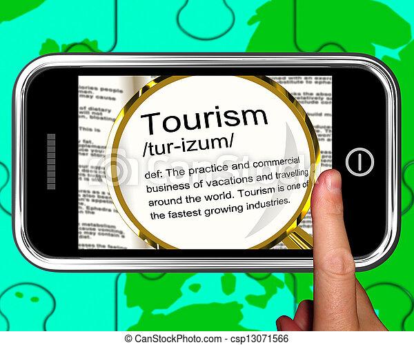 Definición de turismo en programas de smartphone viajando al extranjero - csp13071566