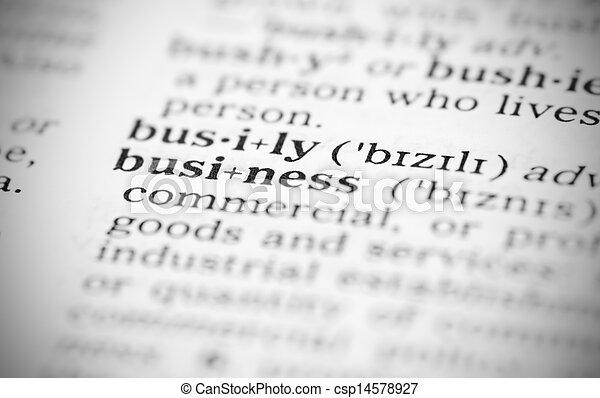 definicja, wizerunek, handlowy, słownik, makro - csp14578927
