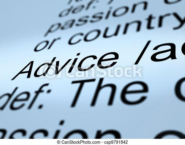 definitie, helpen, raad, closeup, aanbeveling, het tonen - csp9791842