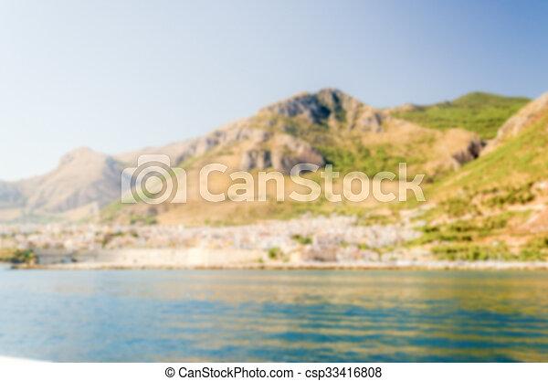Defocused background of Castellammare del Golfo, Sicily - csp33416808