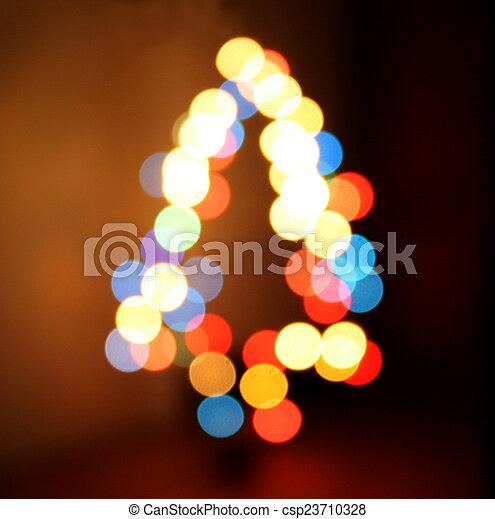 Defocused Christmas Tree Lights - csp23710328