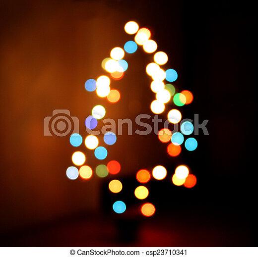 Defocused Christmas Tree Lights - csp23710341