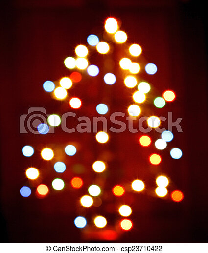 Defocused Christmas Tree Lights  - csp23710422