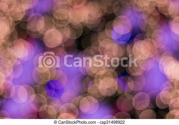 Defocused ligths of golden Christmas tree - csp31498922