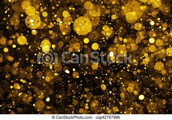 defocused, lyse, glitter, jul, bakgrund. - csp42767996