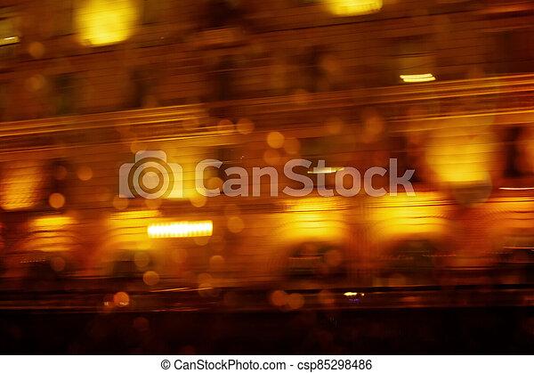 Defocused night city scene, abstract image - csp85298486