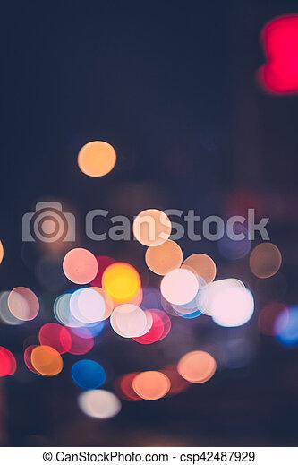 Defocused Night Light in City Background - csp42487929