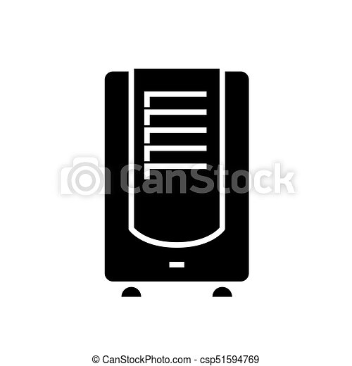 dehumidifier icon, vector illustration, black sign on isolated background - csp51594769