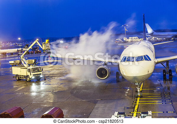 Deicing of an aircraft - csp21820513