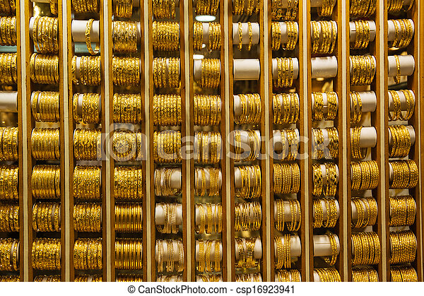 deira, souq, mercato, oro, dubai - csp16923941