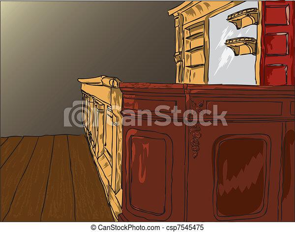Deja la vieja mesa de bar - csp7545475