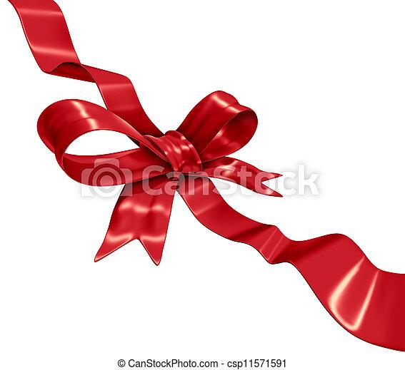 dekoráció, piros szalag - csp11571591