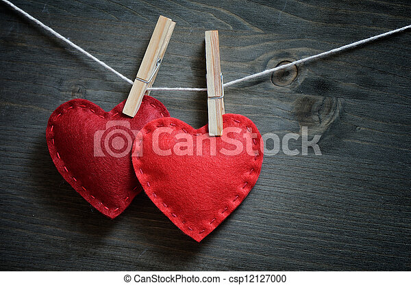 dekoracje, dzień, valentine - csp12127000