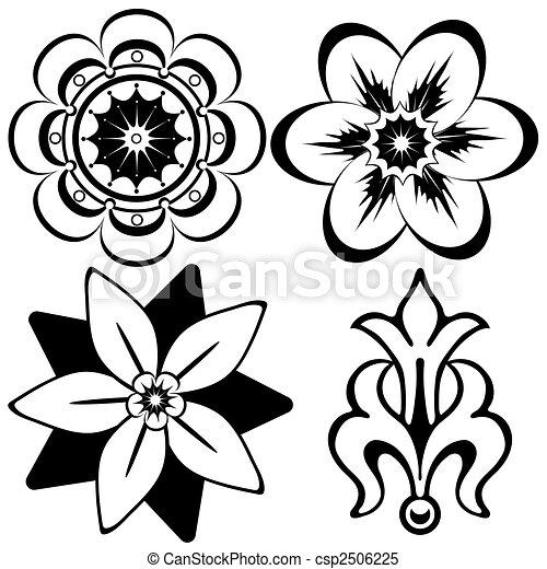 dekoracyjne elementy, (vector), rocznik wina, projektować, kwiatowy - csp2506225