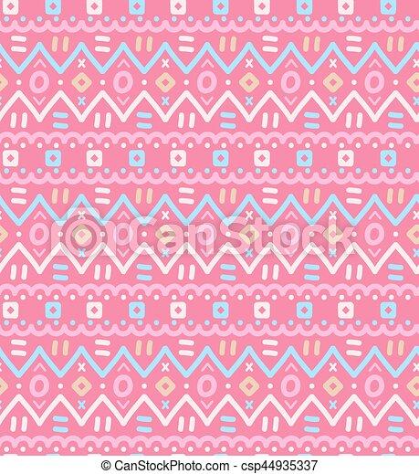 dekoracyjny, dekoracyjny, pattern., seamless, tekstylny, etniczny, pasiasty, krajowiec - csp44935337