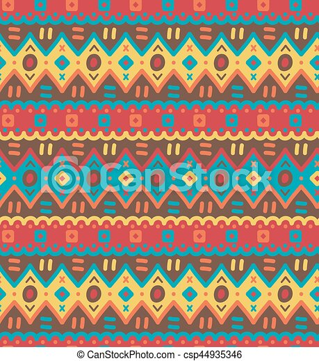 dekoracyjny, dekoracyjny, pattern., seamless, tekstylny, jasny, etniczny, pasiasty, krajowiec - csp44935346