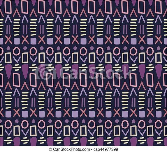 dekoracyjny, dekoracyjny, próbka, plemienny, seamless, tekstylny, vector., etniczny - csp44977399