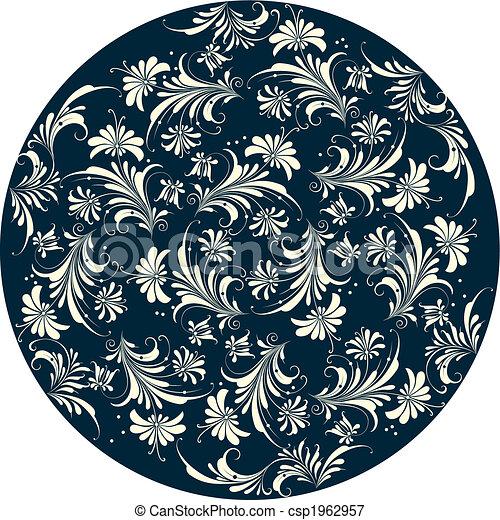 dekoracyjny, kwiatowy, tło - csp1962957