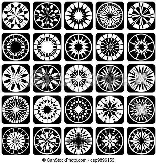 dekoracyjny wzór, projektować, elements. - csp9896153