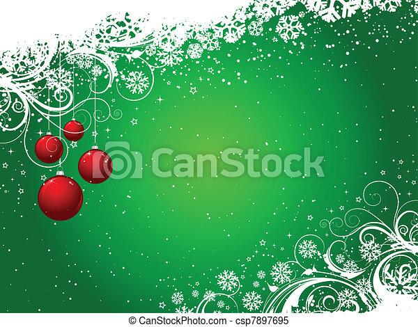 dekoracyjny, zima, tło - csp7897695