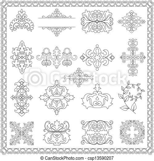 dekoratív elem, tervezés, (line) - csp13590207