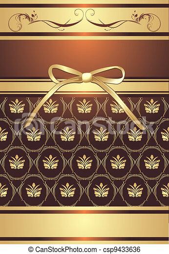 dekoratív, háttér, íj - csp9433636