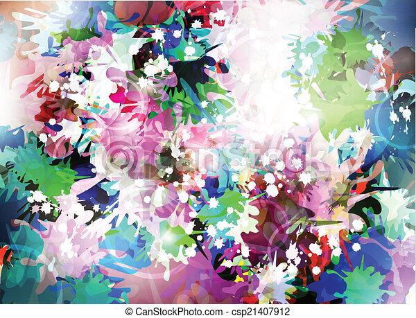 dekoratív, háttér - csp21407912