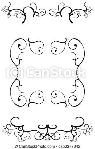 dekoratív határ - csp0377842