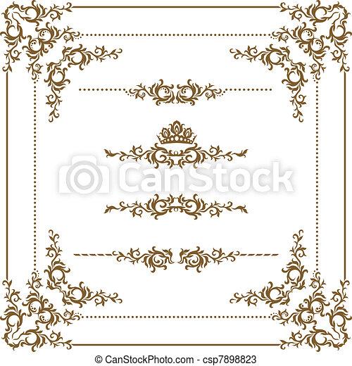 dekoratív, keret - csp7898823