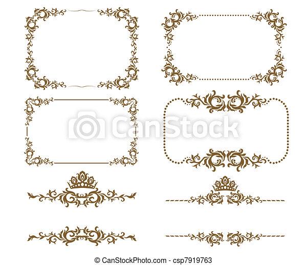 dekoratív, keret - csp7919763