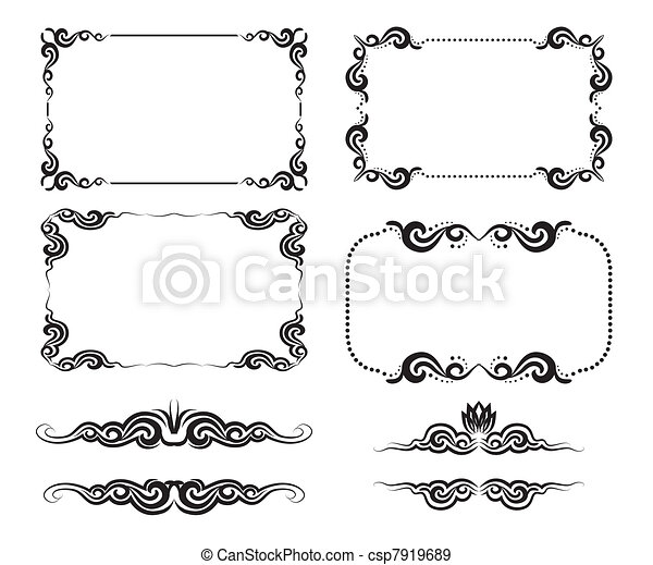 dekoratív, keret - csp7919689