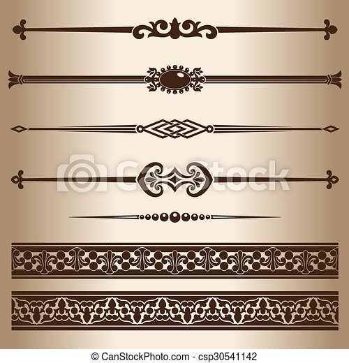 dekoratív, lines. - csp30541142