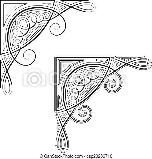 dekoratív, sarok - csp20286716
