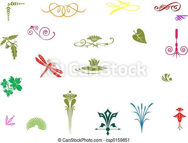 dekoratív, színes - csp0159851