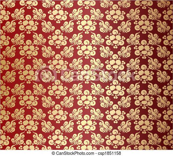 dekoratív, virágos, díszítés - csp1851158